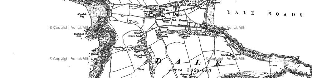Old map of Dale in 1948