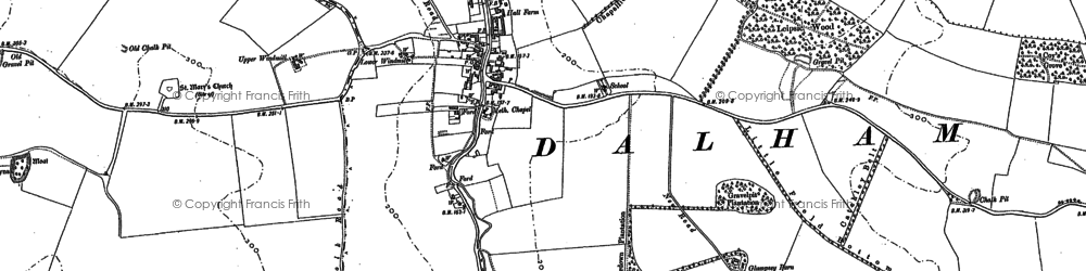 Old map of Leipsic Wood in 1883