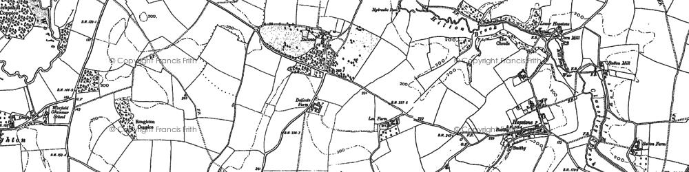 Old map of Wyken in 1901
