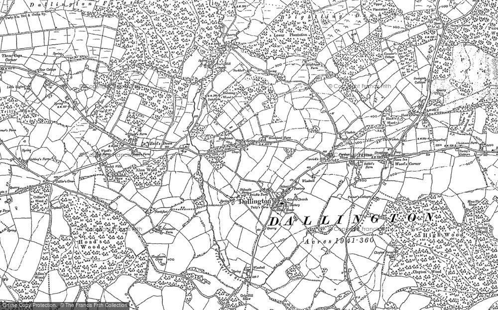 Old Map of Historic Map covering Wood's Corner in 1897
