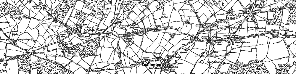 Old map of Wood's Corner in 1897