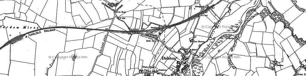 Old map of Dalston in 1899
