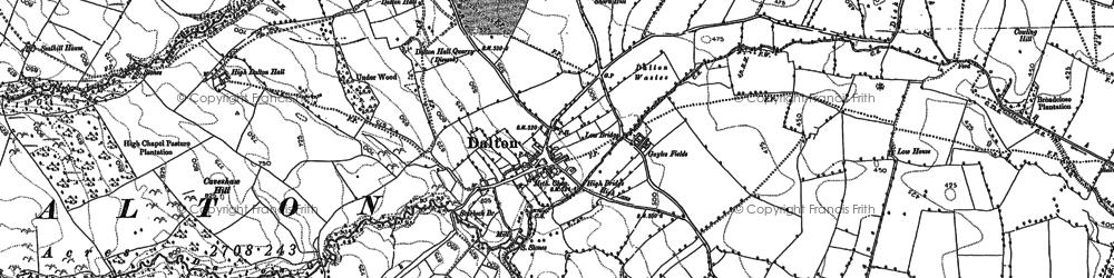 Old map of Dalton in 1854