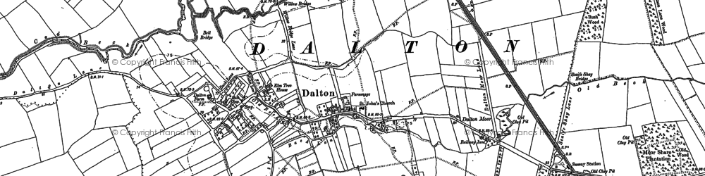 Old map of Westholme in 1890