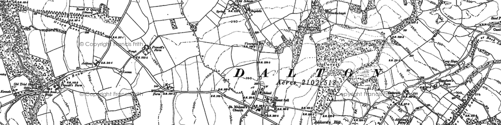 Old map of Whalleys in 1892