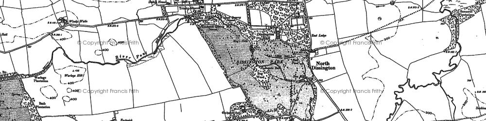 Old map of Windy Walls in 1895