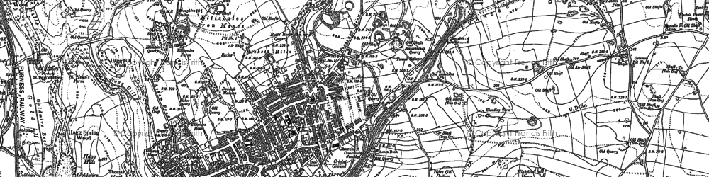 Old map of Dalton-In-Furness in 1910