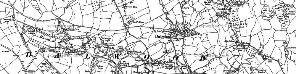 Old map of Lea in 1887