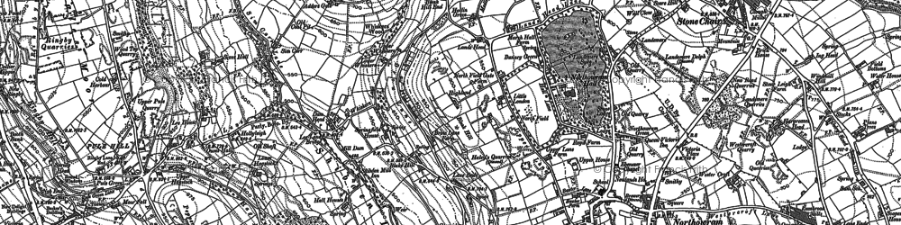 Old map of Woodlands in 1892