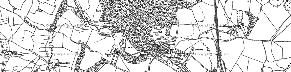 Old map of Damery in 1881