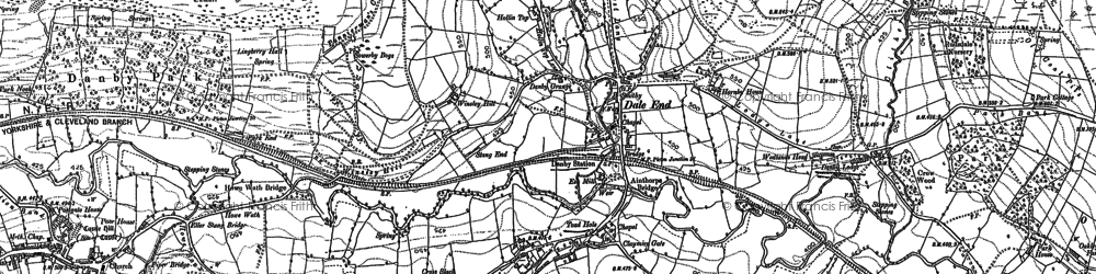 Old map of Danby in 1892