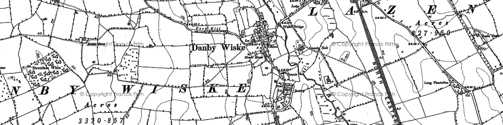 Old map of Lazenby Hall in 1891