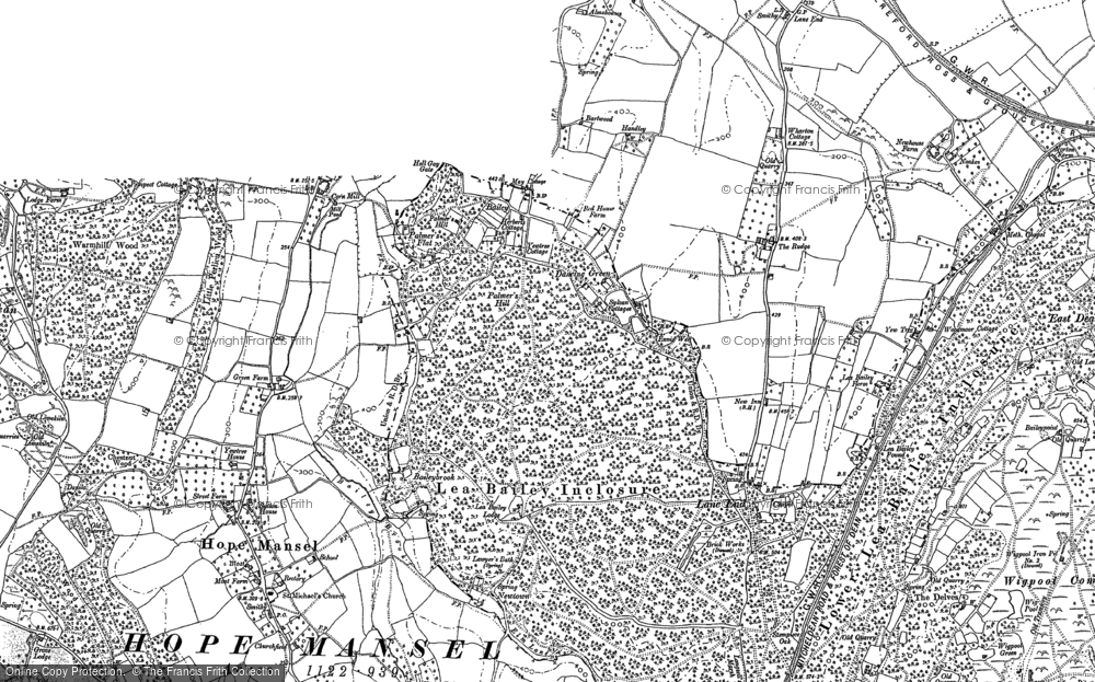 Old Map of Historic Map covering Baileybrook in 1887