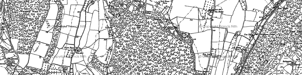 Old map of Baileybrook in 1887