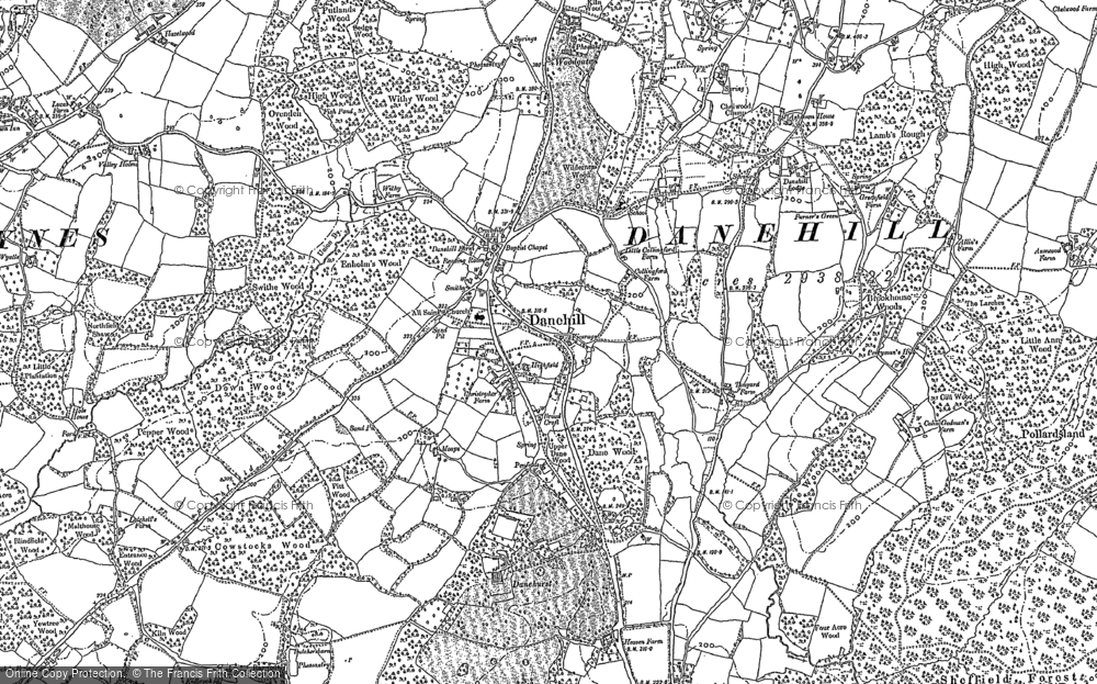 Old Map of Danehill, 1897 - 1898 in 1897