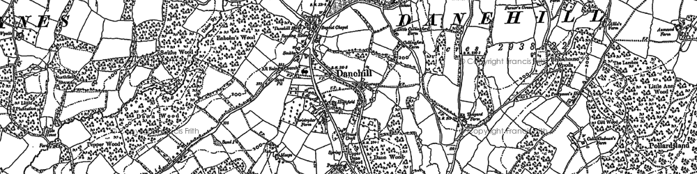 Old map of Danehill in 1897