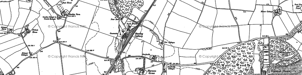 Old map of Worksop Manor in 1897