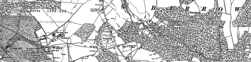 Old map of Ash Coppice in 1882