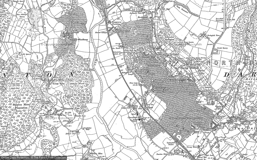 Old Map of Darley Dale, 1879 in 1879