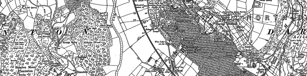 Old map of Darley Dale in 1879