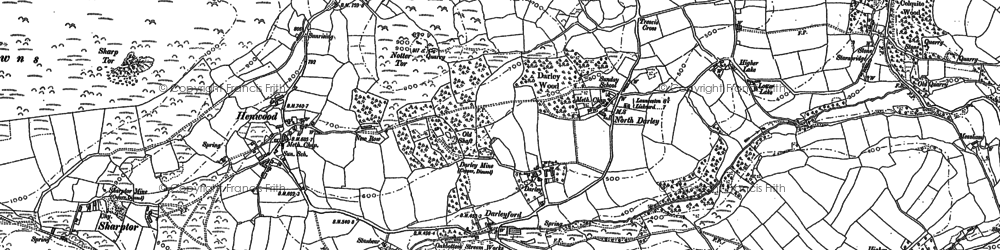 Old map of Darleyford in 1882