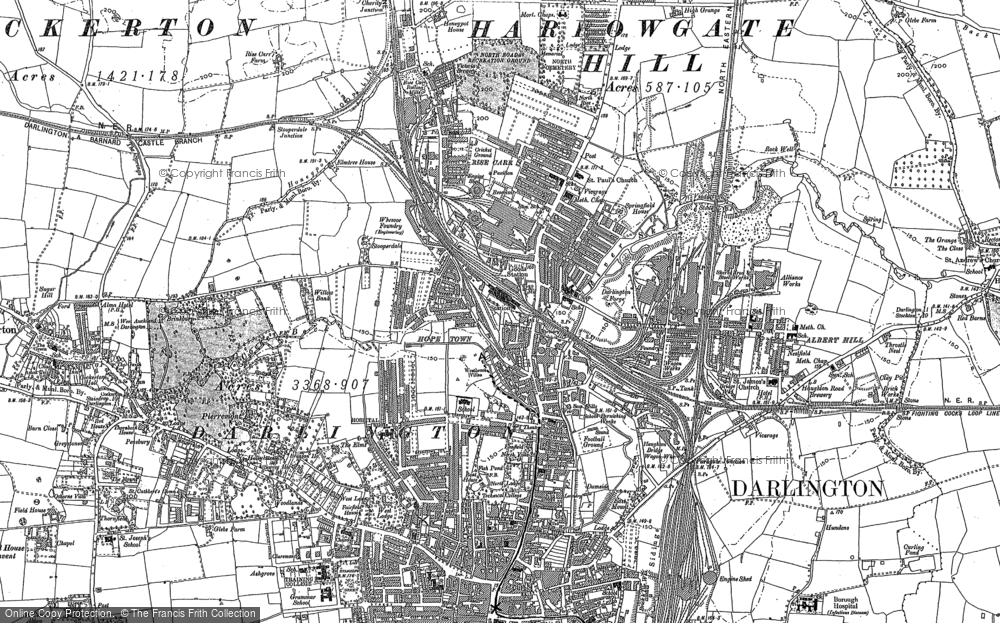 Old Maps of Darlington Francis Frith