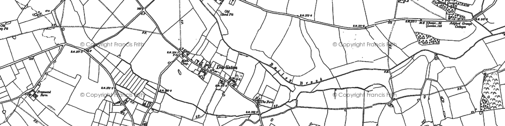Old map of Ashford Grange in 1880