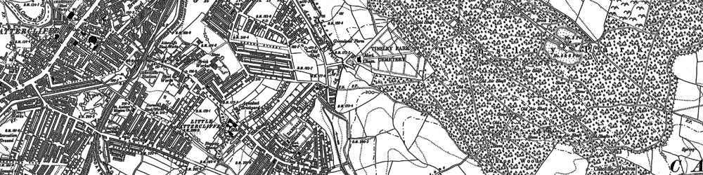 Old map of Attercliffe in 1891