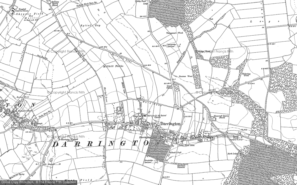Old Map of Historic Map covering Leys in 1860