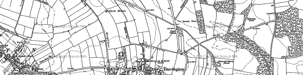 Old map of Leys in 1860