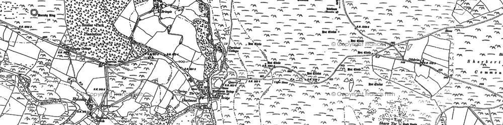 Old map of Yar Tor in 1884