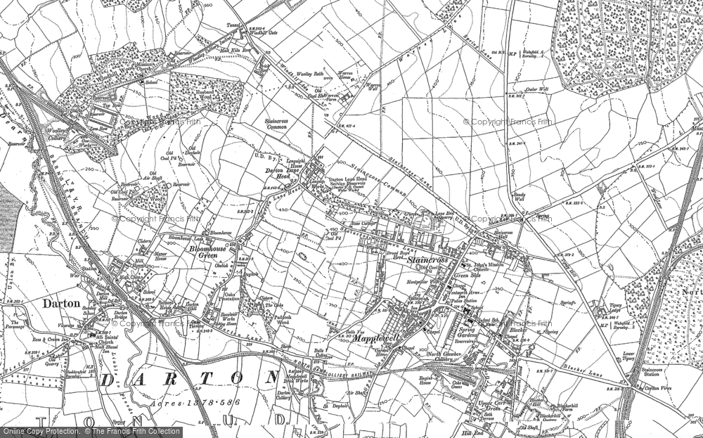 Old Map of Darton, 1851 - 1891 in 1851