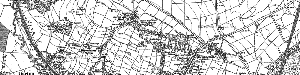 Old map of Darton in 1851