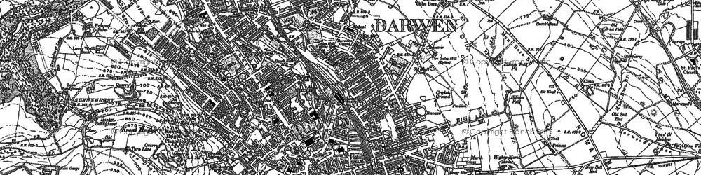 Old map of Whitehall in 1891