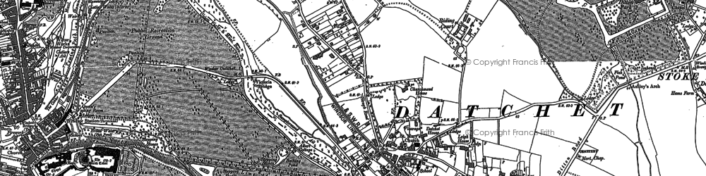 Old map of Datchet in 1910