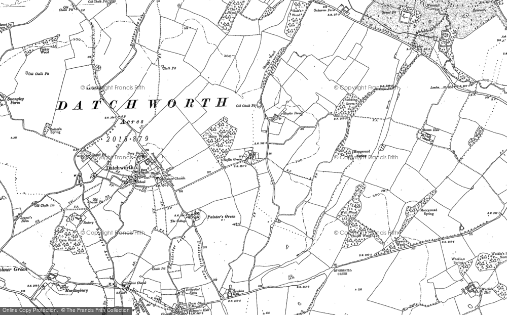 Old Map of Datchworth, 1897 in 1897