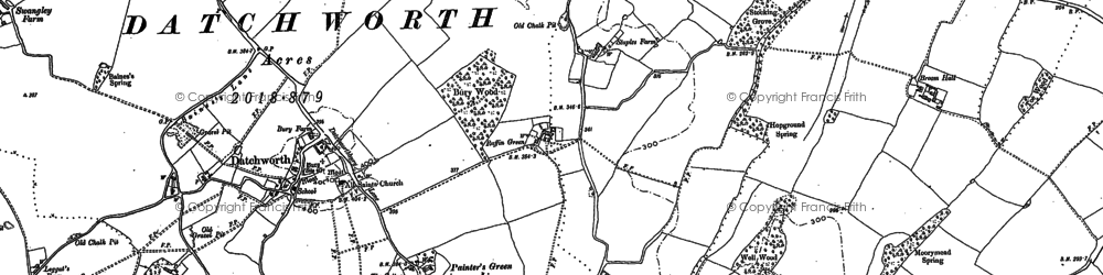 Old map of Datchworth in 1897