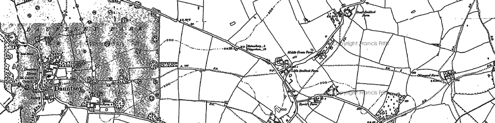 Old map of Greenman's Lane in 1899