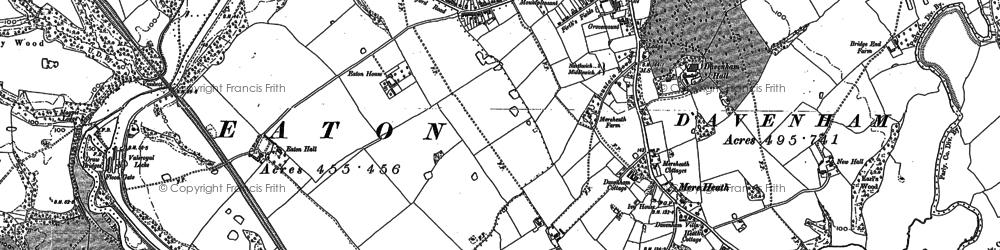 Old map of Davenham in 1897