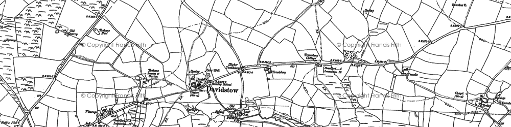 Old map of Davidstow in 1882