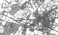 Old Map of Davington, 1896