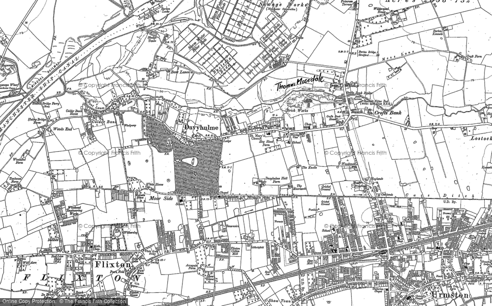 Old Map of Davyhulme, 1894 - 1904 in 1894