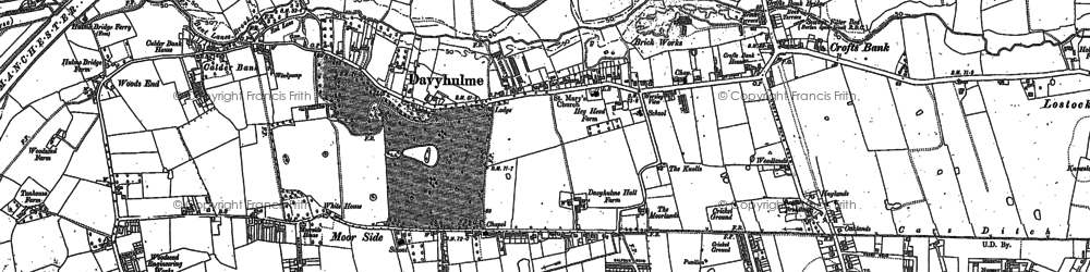 Old map of Davyhulme in 1894