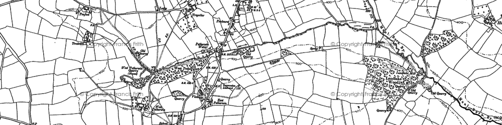 Old map of Daw's House in 1882