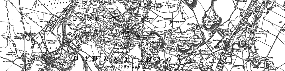 Old map of Dawley in 1882