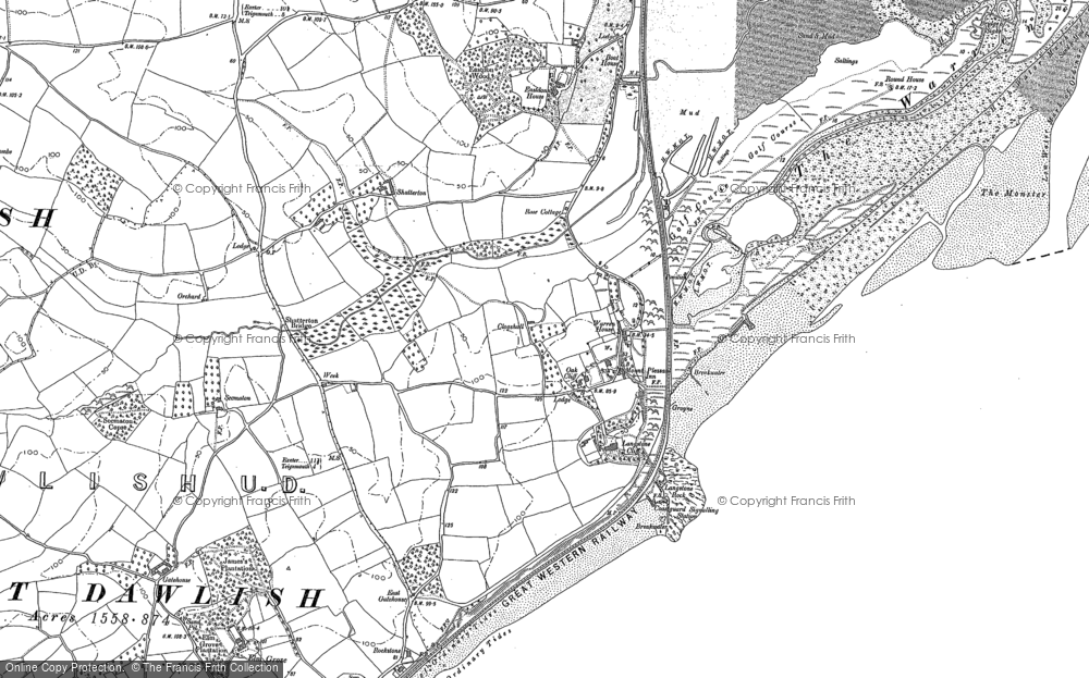 Old Map of Historic Map covering Langstone Rock in 1904