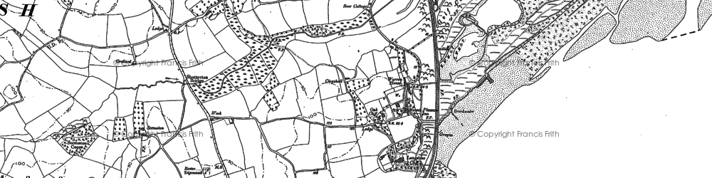 Old map of Langstone Rock in 1904