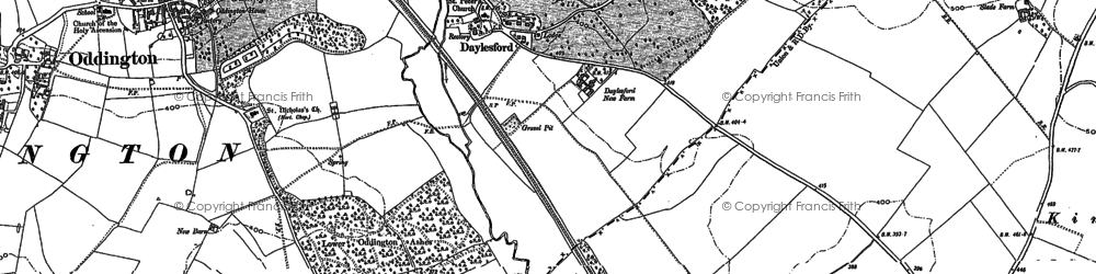 Old map of Adlestrop Park in 1898
