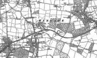 Old Map of Deaf Hill, 1896