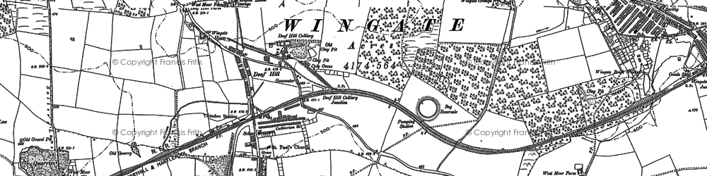 Old map of Wingate Ho in 1896